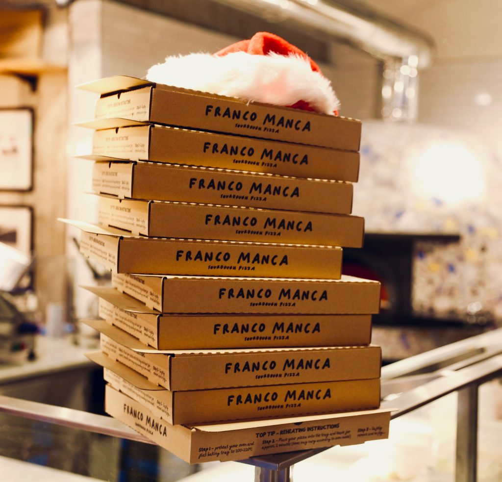 Franco Manca Christmas pizza donations