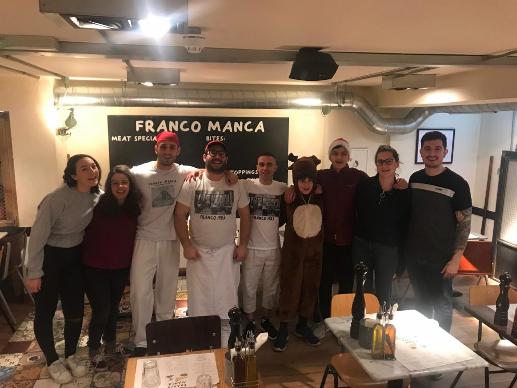 Franco Manca Christmas pizza donations soho