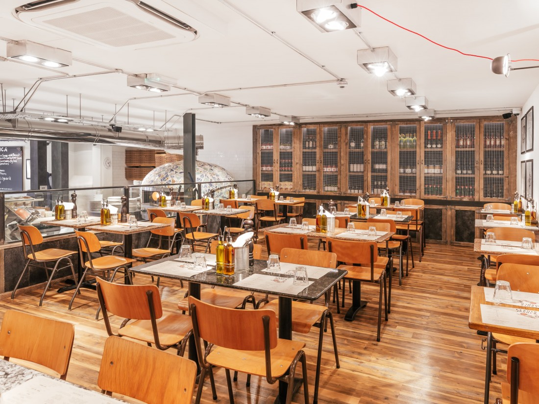Franco Manca Greenwich internal