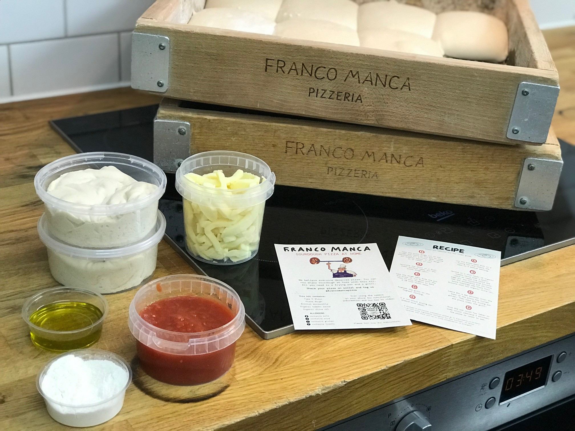 Franco Manca pizza delivery kits